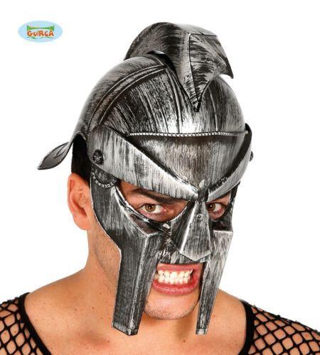 Gladiator-Helm-fur-Herren-Antike-Rom-Legionar-Karneval-Fasching-Party-silber