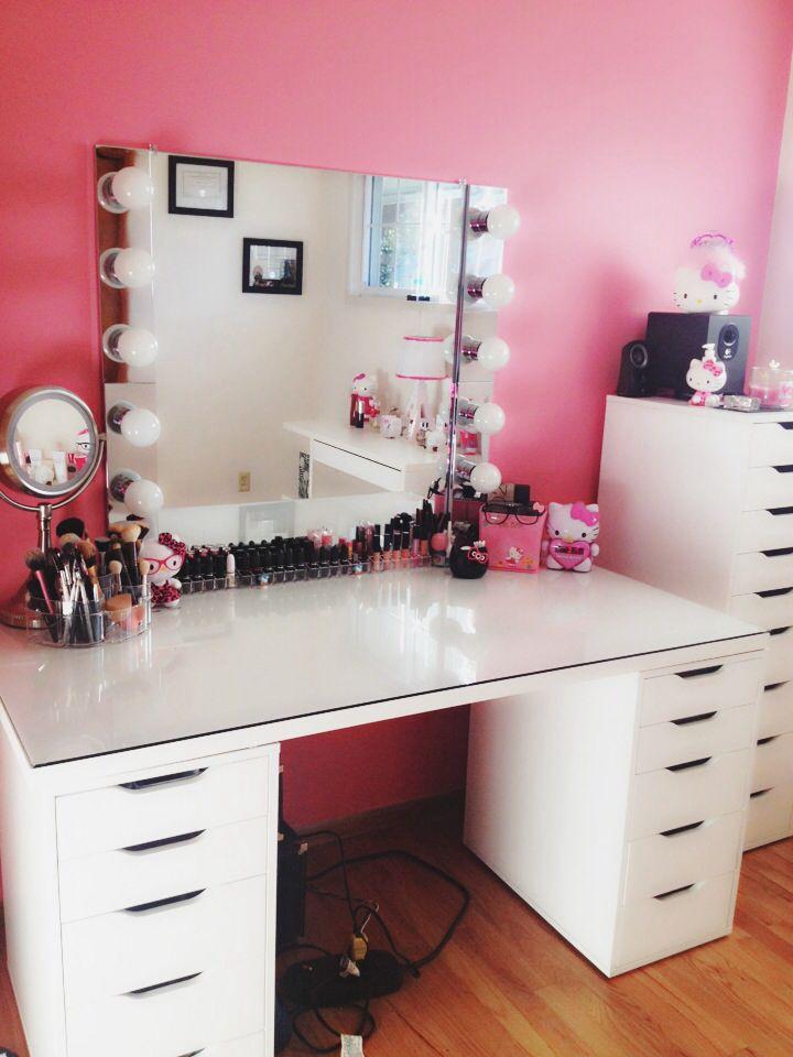DIY makeup vanity  #Penteadeiras #MJ http://mundodemj.blogspot.com.br/2015/09/penteadeiras.html