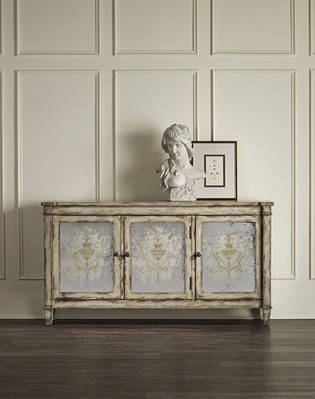 The Three Door Mirrored chest has illustrations on the antique mirrored  doors. - 34 Best Mirrored Furniture Images On Pinterest Mirror Furniture