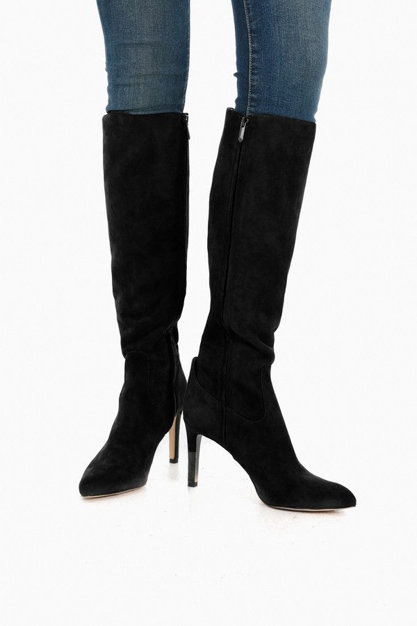 71fdb1100b1 Black Suede Olencia Knee High Boots in Black by Sam Edelman - Tnuck ...