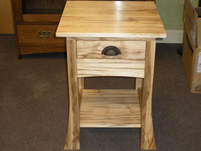 Appleton Heirloom Bonza Wormy Maple Side Table