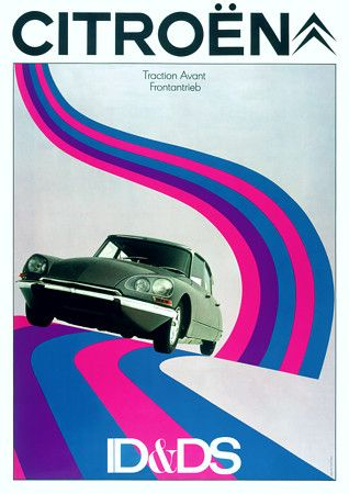 Vintage Citroen D & DS Advertising Posters and Prints - From Vintage Venus Australia.