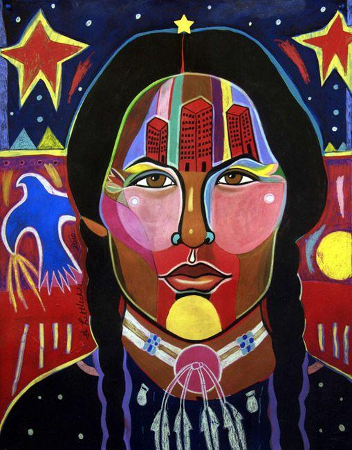George Littlechild (Cree): 'Modern Girl, Traditional Mind Set'