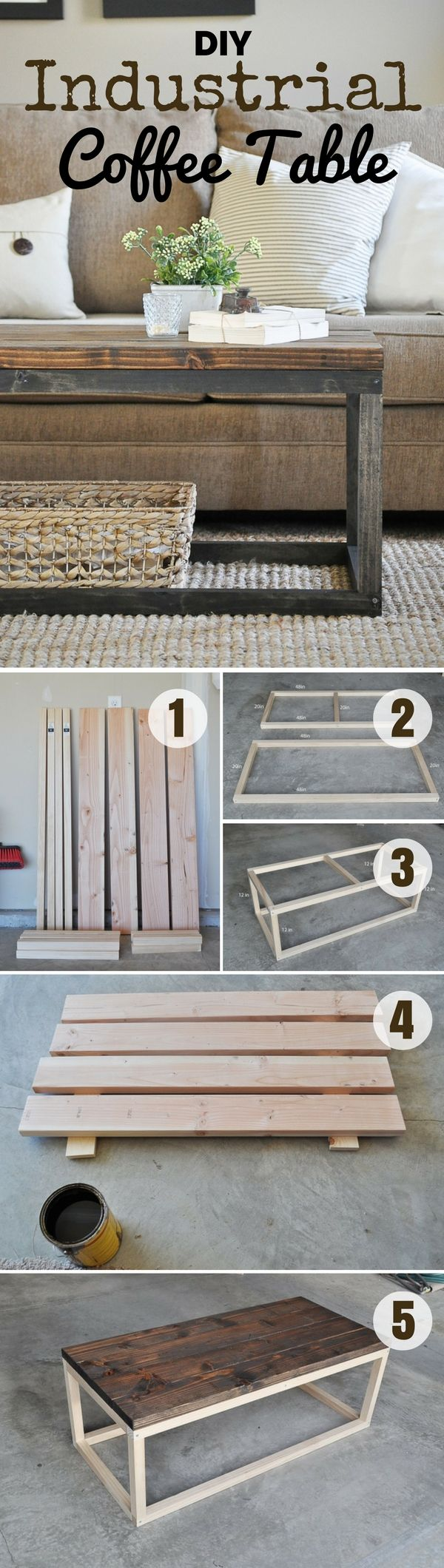 Check out how to build this easy DIY Industrial Coffee Table 10 more styles @istandarddesign