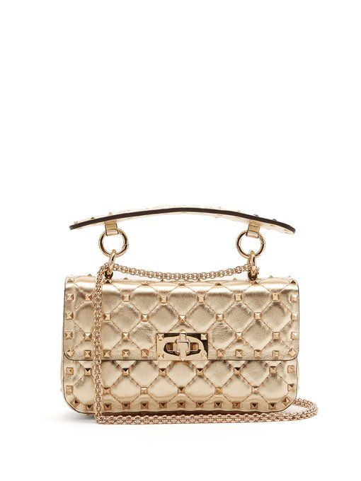b9bbc55323939 Valentino Rockstud Spike small quilted-leather shoulder bag ...