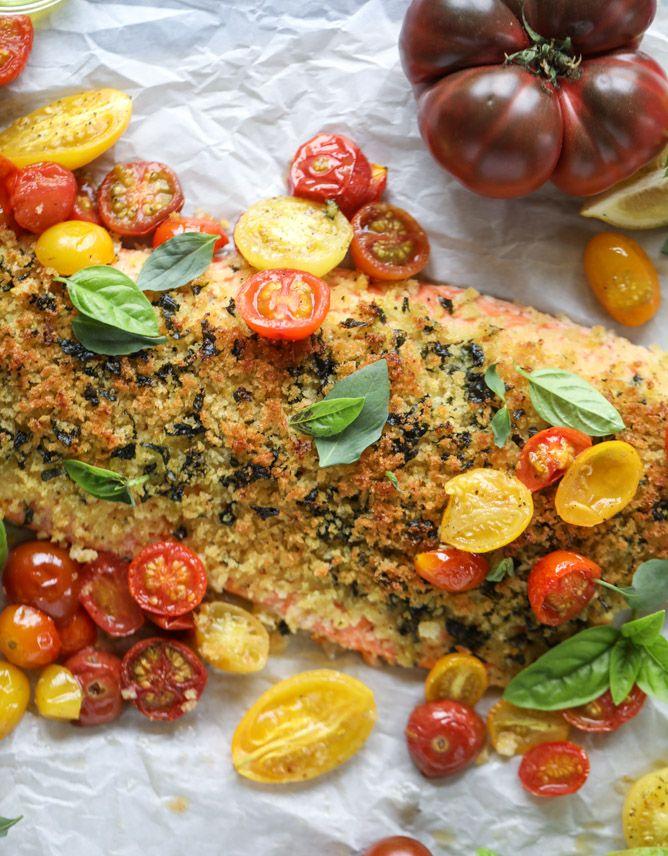 roasted lemon basil butter salmon