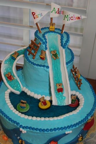 Waterslide Party Cake Cakes And Cupcakes Pool Party