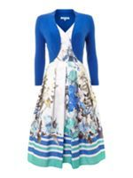 Look what I found at House of Fraser Dickins & Jones Ladies Floral Stripe Occasion Dress With Shrug