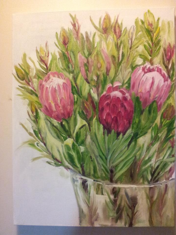 Proteas. Oil on Canvas. MVB