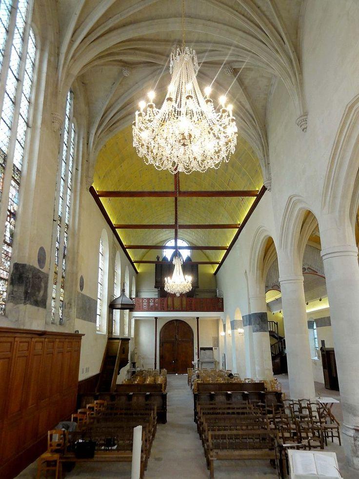 Écouen (95), église Saint-Acceul, chœur, vue vers l'ouest - Église Saint-Acceul d'Écouen — Wikipédia