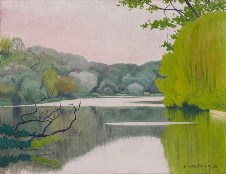 Lac Saint-James 1918! By Valloton