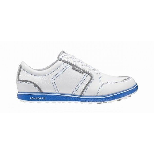 Ashworth Men's Cardiff ADC Spikeless White/Neutral Grey/Air Force Golf Shoes