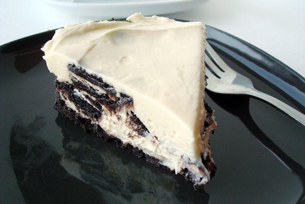 {No-Bake} Oreo Cheesecake via @melskitchencafe