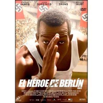 """""""El héroe de Berlín"""" de Stephen Hopkins Narra la historia del mítico atleta Jesse Owens, el coloso de la velocidad que saltó a la fama en los Juegos Olímpicos de Berlín de 1936, cuando dejó al mundo boquiabierto con sus espectaculares marcas que echaron por tierra la teoría de Hitler sobre la supremacía de la raza aria. Signatura: DVD HIS her"""