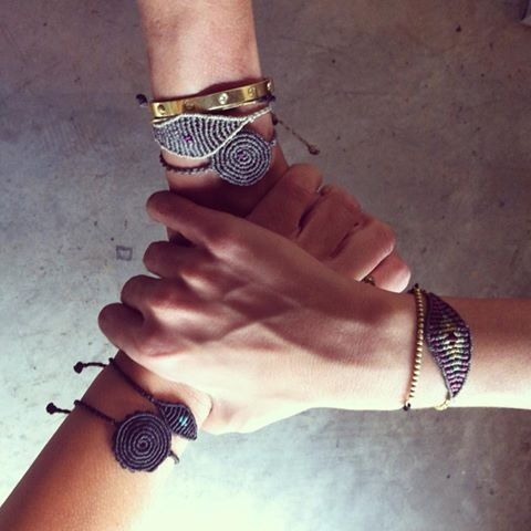 """All seeing eye"" & ""spiral"" bracelets by Tatiana Choremi buy on line www.most-chic.com"