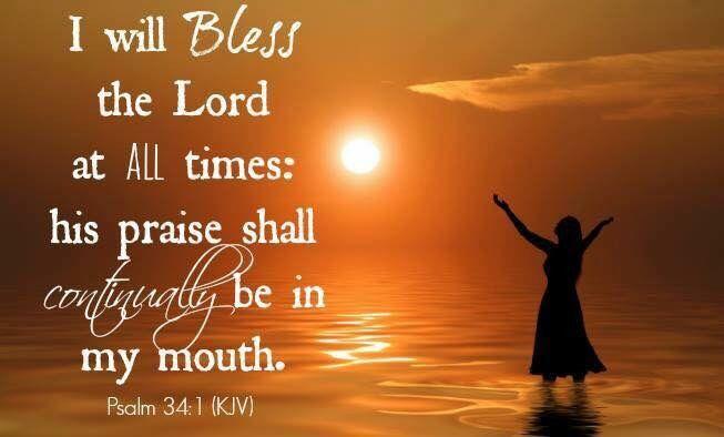 Psalm 34:1   G. KJV Bible Memory Verses   Pinterest ...