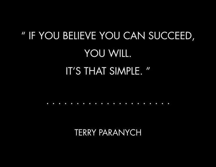 Believing in success (quote)