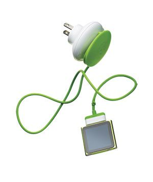 Mushroom Green Zero Wall Travel Charger. Treat the big achiever in your