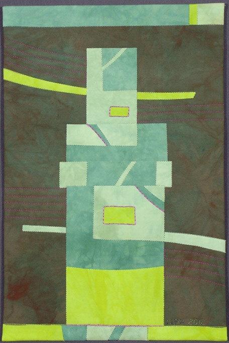 Color Blocks 5: Totem - Textile Wall Art, Lisa Flowers Ross