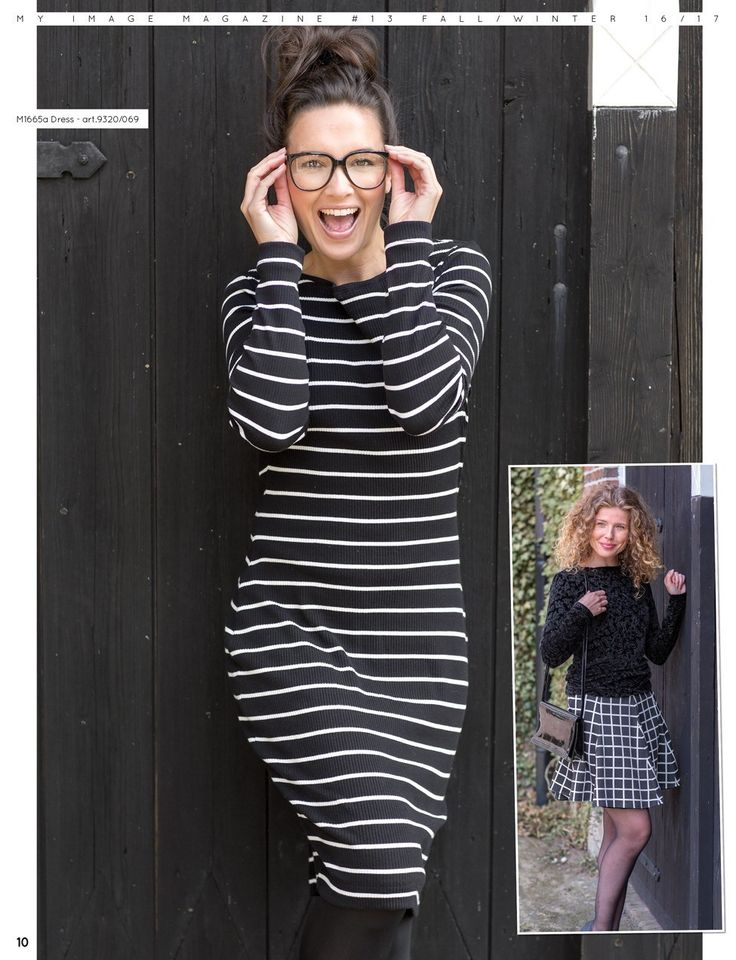 Gezien in... - Cotton Rib Stripe Black - - bij Textielstad Snelle levering en…