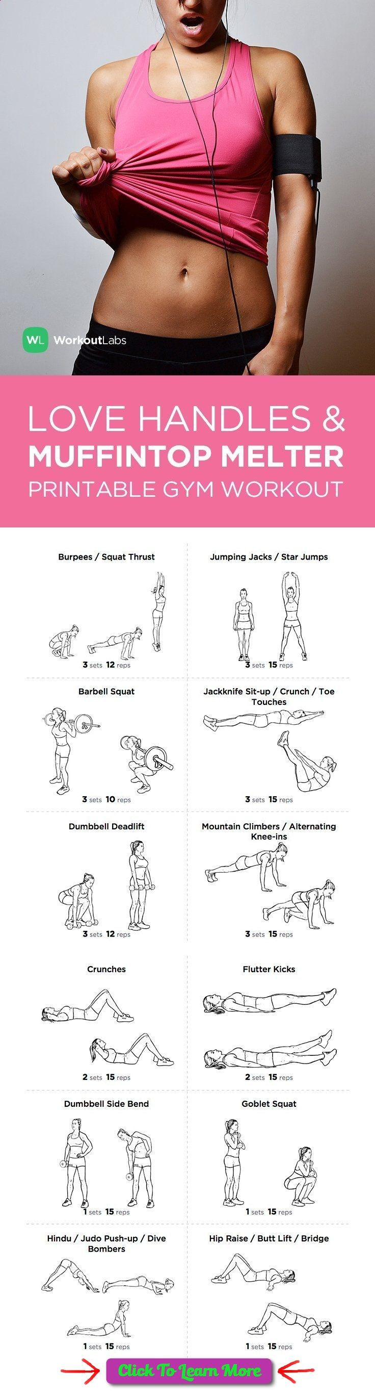 best weight loss programs, fastest way to lose fat in a week, how to lose weight in your stomach - FREE PDF: Love Handles and Muffin Top Melter Printable Gym Workout for Women – visit wlabs.me/1sS9gnH to download! #health #fitness #weightloss #healthyrecipes #weightlossrecipes