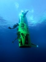 James Cameron Completes Record-Breaking Mariana Trench Dive   http://news.nationalgeographic.com/news/2012/03/120325-james-cameron-mariana-trench-challenger-deepest-returns-science-sub/