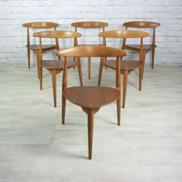 Vintage Hans Wegner for Fritz Hansen Heart Danish Dining Table 6 Tripod  Chairs - 77 Best Mid-century Furniture Images On Pinterest Mid Century