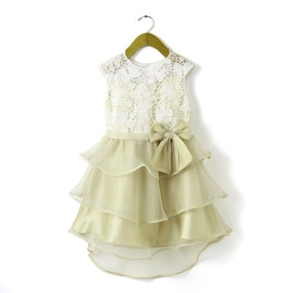 Hopscotch | Buy Anna Maria Pre Order : Beige Party Dress on Hopscotch.in in India