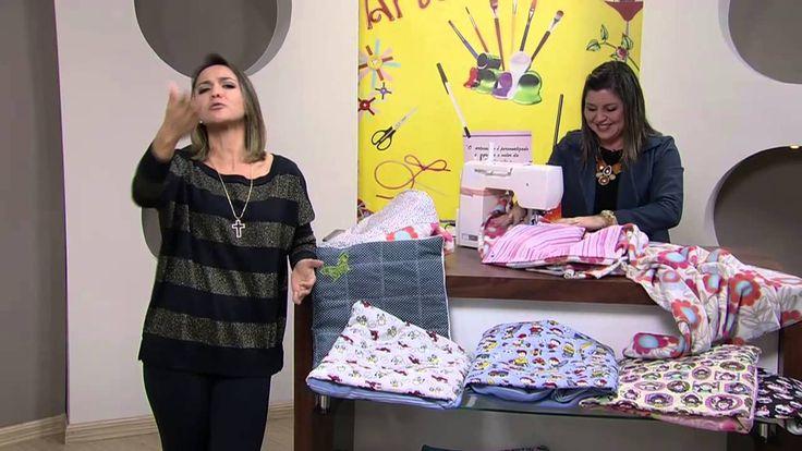 Mulher.com 17/06/2013 Maura Castro - Almofada que vira manta Parte 2/2