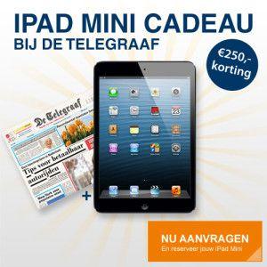 #Gratis #Ipad #mini bij de #Telegraaf? Doe mee aan deze Telegraaf ipad mini actie en ontvang VANDAAG een gratis ipad! => klik SNEL hier voor meer informatie =>>