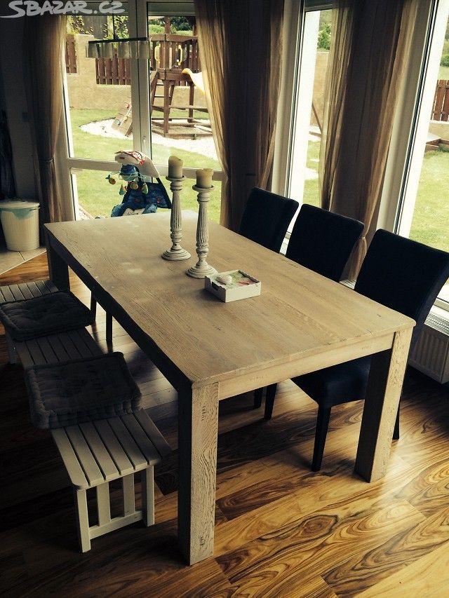 Luxusni masivni stylovy dubovy stul kupovany loni - obrázek číslo 1