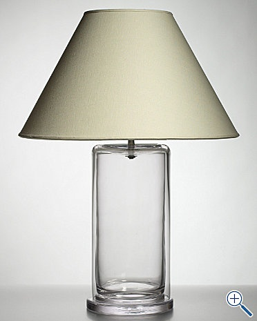 """A fillable lamp base.  I'm thinking of using one of these in the nursery and filling it with either sand & shells, """"woodsy"""" items, or different colored beach glass."""