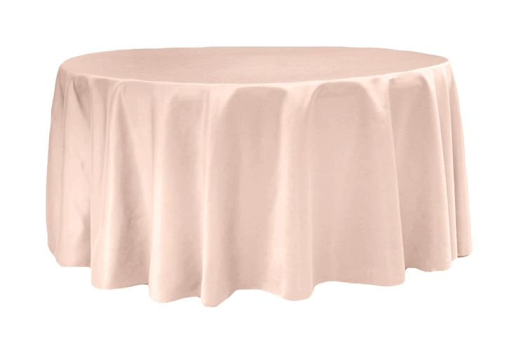 "Lamour Satin 132"" Round Tablecloth - Blush ● As Low as $13.99 ● Get yours here http://www.cvlinens.com/lamour-satin-round-tablecloth-blush-p-5915.html"