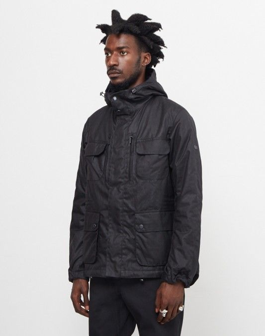 Barbour International Delta Wax Jacket Black #StyleMadeEasy