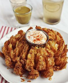 Homemade bloomin onion (instead of frying, bake at 425 for 45 minutes!)