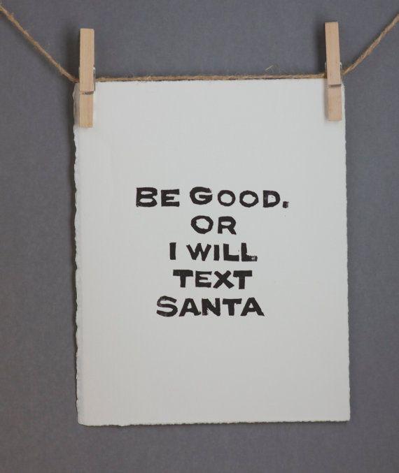 Santa Urlaub Hausordnung Dekorationen Drucken von RetroModernArt