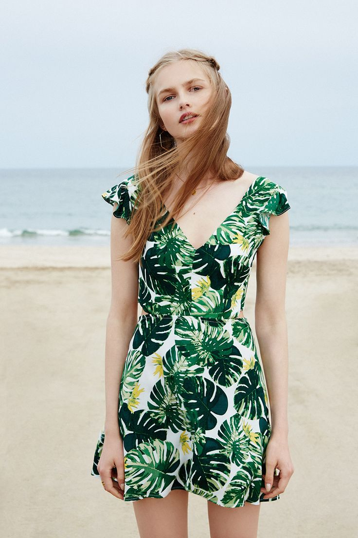 Best 25+ Green summer dresses ideas on Pinterest | Falda con raja casual Vestido con raja ...