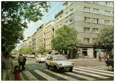 Gdynia Ulica Świętojańska Fot. L. Surowiec Wyd. Krajowa Agencja Wydawnicza 1984