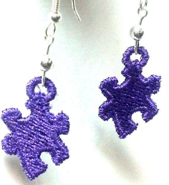 #Puzzle Piece #Earrings by teresadelosh on Etsy, $7.00