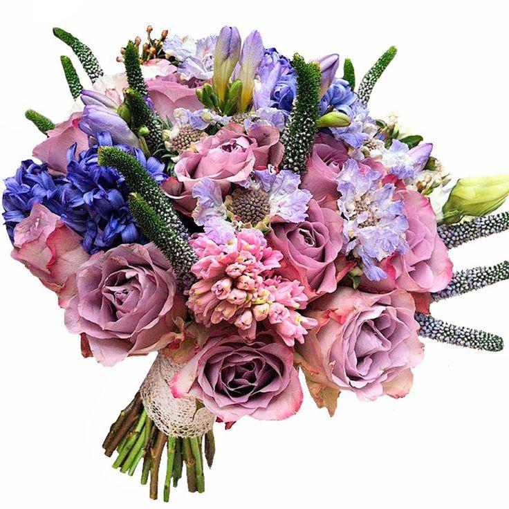 los ramos de novia e ideas de decoración con flores de Mar de flores:ramo romántico
