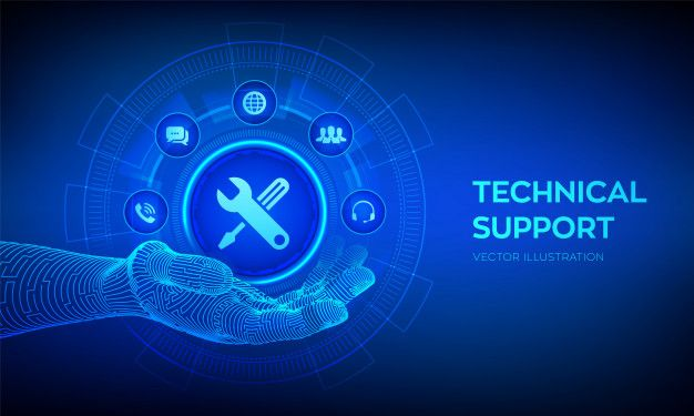 Technical Support Icon In Robotic Hand Customer Help Tech Support Support Icon Technical Support Tech Support
