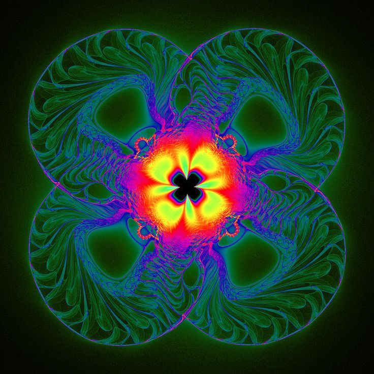 #digital #art #design #abstract #algorithm #fractal #four #square #pretzel #clover #hot #fire #explosion #symmetry