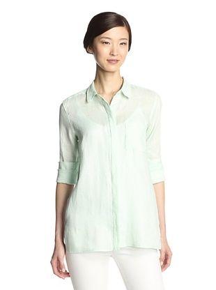 44% OFF NYDJ Women's Washed Linen Shirt (Spearmint)
