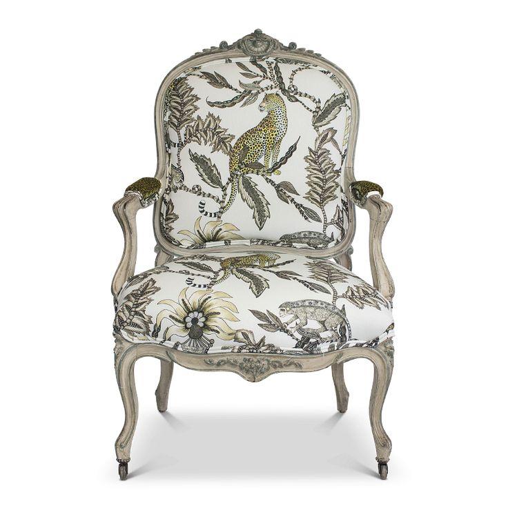 Zambezi Monkey Bean Ash Louis XV Vintage Arm Dining Chair – Ardmore-Design