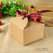 1 шт. небольшой площади бумаги ремесла коробка шоколадных конфет упаковки для подарков бисквитный торт печенье ручной работы пекарни упаковки 9 X 9 X 6 см(China (Mainland))
