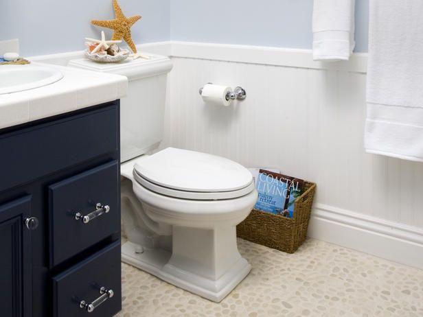 Beachy bathroomBathroom Design, Decor Ideas, Bathroom Inspiration, Guest Bathroom, Wall Decals, Toilets Paper, Bathroom Ideas, Bathroom Decor, Funny Bathroom