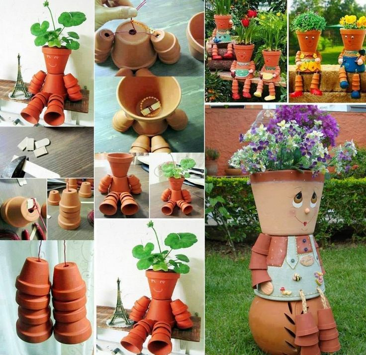 How to make Clay Pot Flower People | Creative Ideas