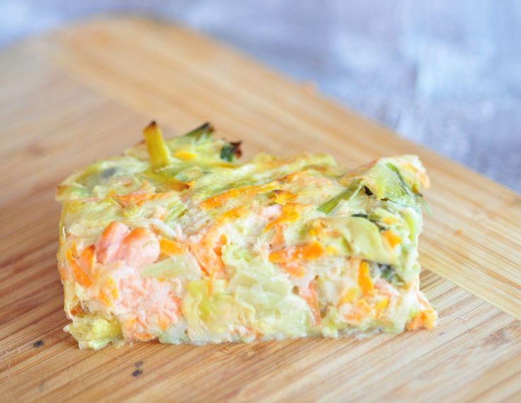 flan aux poireaux carottes et saumon