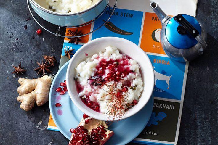 Kindheitserinnerung für Experimentierfreudige: Milchreis mit Chai-Tee, Ingwer und Chilifäden! #milchreis #chai #ingwer