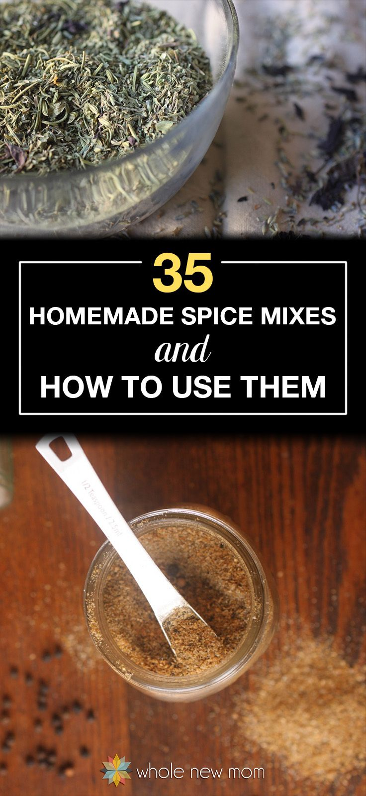 No need to buy spice mixes when you can make them yourself! From curry power to taco seasoning these homemade spice mixes are free of additives. Great ways to use them too!